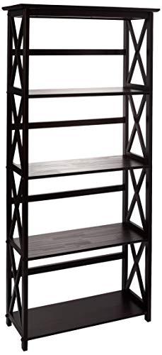 Casual Home Montego 5-Shelf Bookcase-Espresso by Casual Home