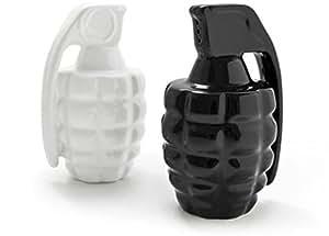 XiaoHe Cruet Boom Salt & Pepper Grenade Shakers Spice Jars