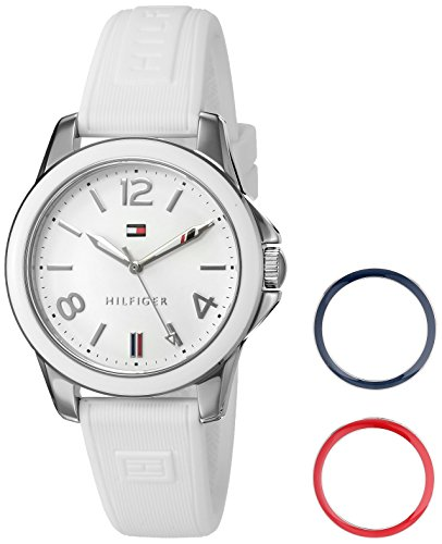 Tommy-Hilfiger-Womens-Quartz-Stainless-Steel-and-Silicone-Casual-Watch-ColorWhite-Model-1781680