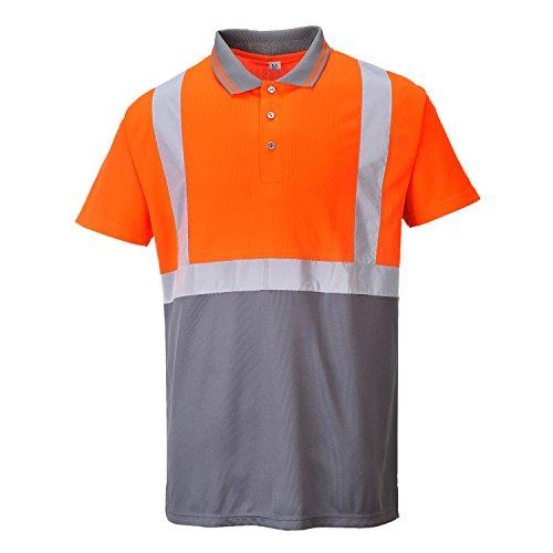 Haute grigio Arancione Polo Visibilité Homme Portwest BFxwqB