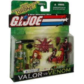 G.I. Joe A Real American Hero 4 Inch Tall Action Figures Valor vs Venom 2 Pack Set - Scarlett versus Sand Scorpion (Gi Joe Scarlett)