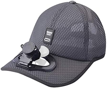 CAOQAO - Gorra de Ventilador de Carga USB para Acampada, Gorra de ...