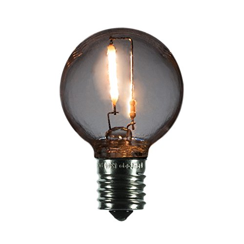- Fantado LED Filament G40 Globe Shatterproof Light Bulb, Dimmable, 1W, E17 Intermediate Base by PaperLanternStore