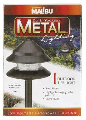 Intermatic #LT406 4W Black Metal 2 Tier Light - Intermatic Copper Bulb