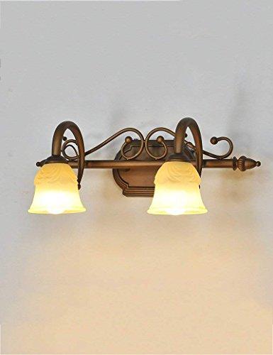 SED Lámparas de Espejo de Baño- Hierro Continental Espejo retroiluminado Pantalla de Cristal Luces Delanteras Espejo Luces...