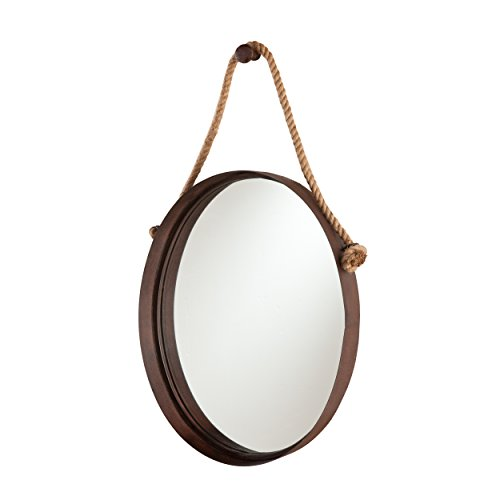 Southern Enterprises Melissa Round Decorative Wall Mirror, - Bathroom Transitional Mirrors Decorative