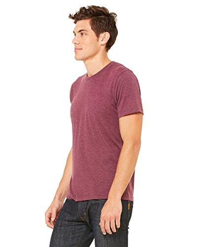 Bella Herren Asymmetrischer T-Shirt Gr. X-Small, Rot - MAROON TRIBLEND