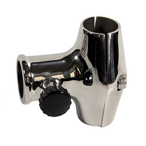 Stainless Steel Marine Boat Flag Pole Socket Base Flagpole Mounting Holder for 22-25mm Pipe Tube Silver Yacht Boats Accessories