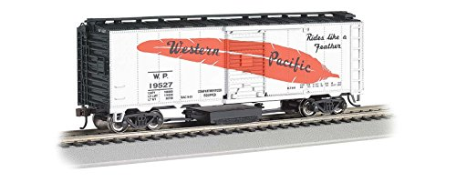 Bachmann HO Scale Track Cleaning 40' Box Car, Western Pacific, Silver