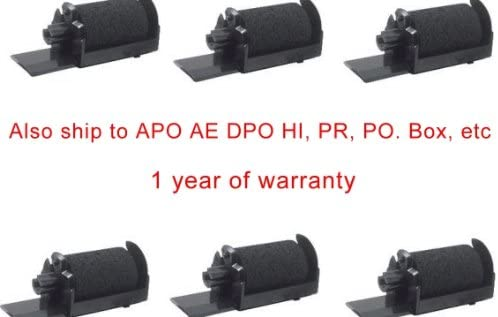 Alaska 115 XEA APO,FPO PO Box Six Compatible black ink roller ribbons to replace IR4O nylon printing Ribbon Cartridge for XE-A 101 120 Photosharp ships to Hawaii 102RF 110 AE a 130 POS P.O.S Sharp Cash Register printer 102,101RF Puerto Rico PR