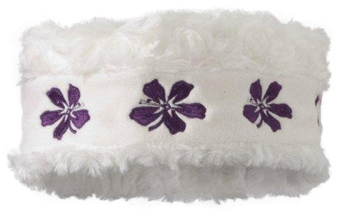 Screamer Women's Kayla Headband Windproof Bandana, White/Plum, One Size