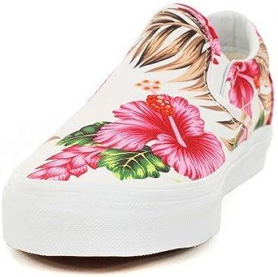 Basket Vans Classic Slip On Blanc à Motif Fleur Hawaiennes