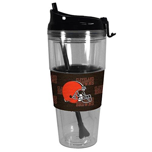 (Boelter Brands NFL Cleveland Browns Premium Tonal Straw Tumbler, 28-ounce)