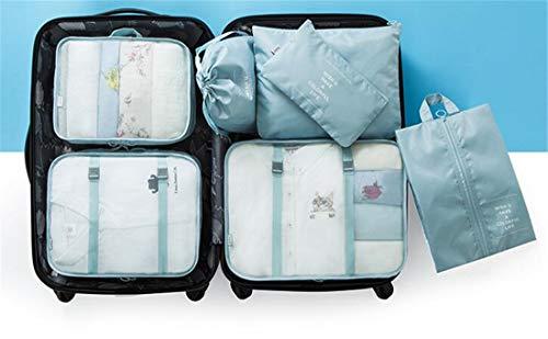 Heyuni. Set of 7 Travel Waterproof Storage Bag Luggage Organizer for Clothes Underwear Shoes by Heyuni.