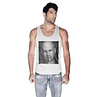 Creo Bruce Willis Tank Top For Men - M, White