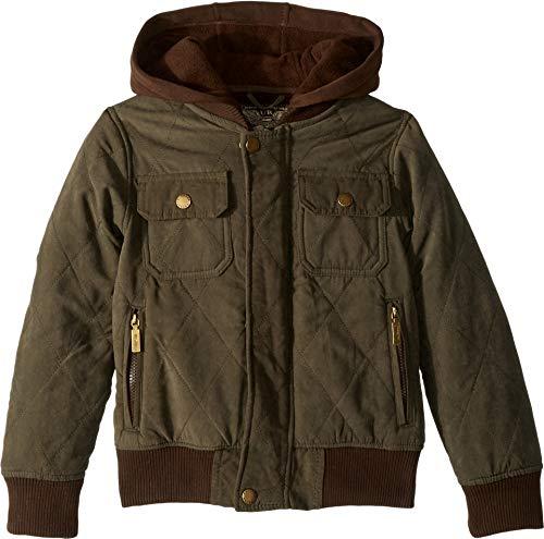 Urban Republic Kids Boy's Augustine Quilted Microfiber Bomber Jacket w/Hoodie (Little Kids/Big Kids) Olive 7