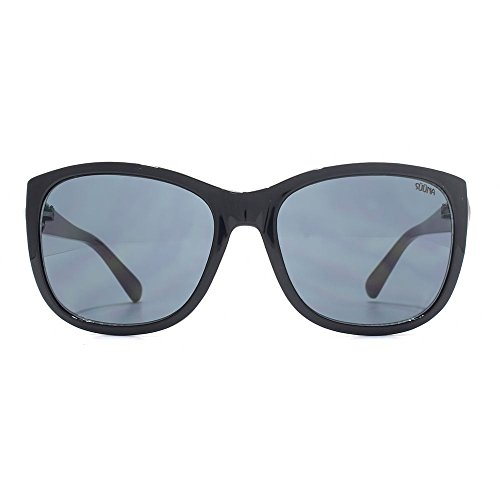 SUUNA Lunette de détail bouton rubis chez le vison noir SUU148 Black Mink Gradient Grey