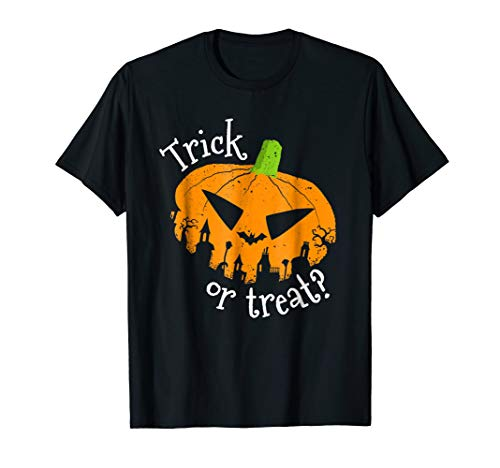 Trick or Treat Halloween Pumpkin Tee