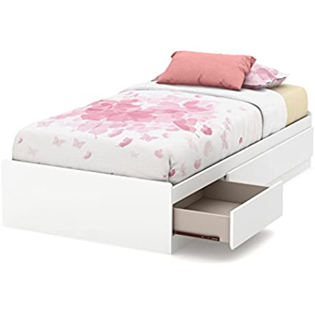 South Shore 39 Callesto Mates Bed With 3 Drawers Twin Pure White