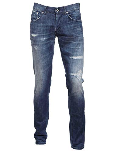 Cotone Up424ds0107t03b800 Uomo Dondup Blu Jeans tYqT6T0