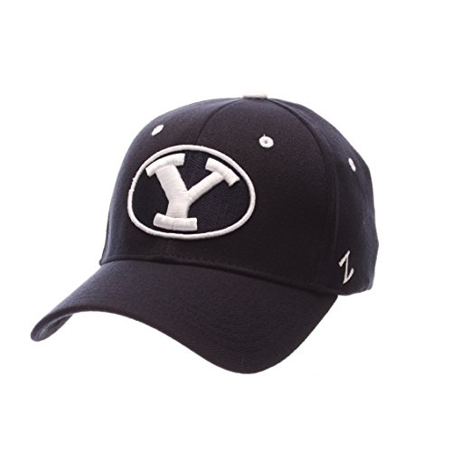 Zephyr NCAA Byu Cougars Men's ZH Stretch Fit Cap, Navy, Medium/Large