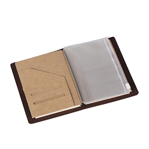 (2-Pack) Zipper Case & Kraft Folder Refill Inserts for Passport Size Travelers Notebook Photo #3