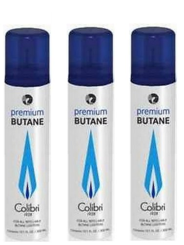 Colibri Premium Butane Large Can - 300 ML 3-Pack
