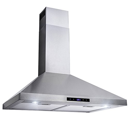 Golden Vantage 30'' Wall Mount Stainless Steel Touch Control Kitchen Range Hood Cooking Fan w/ Mesh Filter by Golden Vantage (Image #2)
