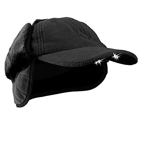 POWERCAP LED Winter Fleece Hat 25/75 Ultra-Bright Hands Free Lighted Battery Powered Headlamp - Black Fleece (CUB4W-2443)