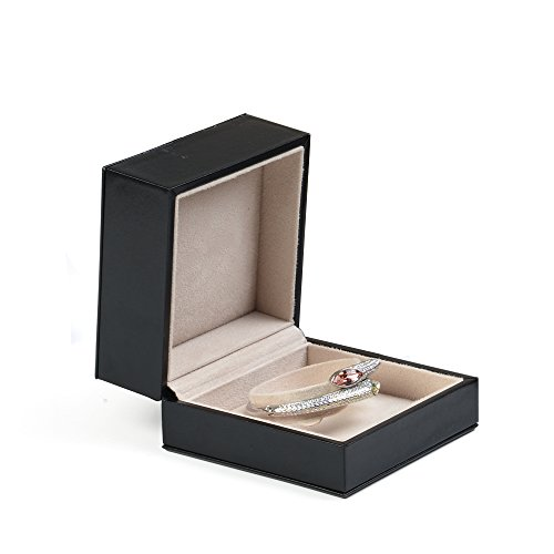 Leather Gift Display Box - Oirlv Black PU Leather Bracelet Storage Box Jewelry Packaging Gift Box Display Case