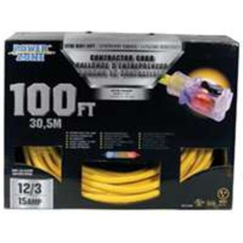 Cord Ext 12/3 Yel (Cord Ext 12/3sjtow X 100ft Yel)
