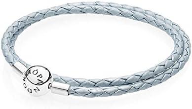 bracelet double cuir gris pandora