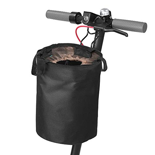 Front Carrying Bag Basket for Electric Scooter Soft Tiller Basket Storage Hanging Pouch Front Carry Organizer for Xiaomi Mijia M365 X2h6 X917 Most Scooter ()