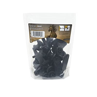 ElectroBraid IROLLB10-EB Roller Post Insulators, Black