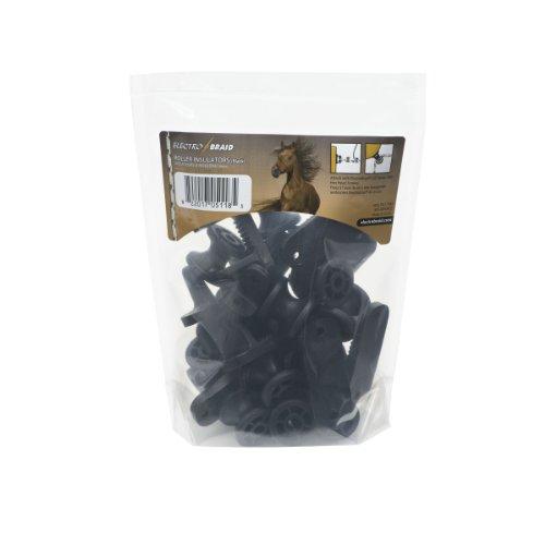 Rope Corner - ElectroBraid IROLLB10-EB Roller Post Insulators, Black