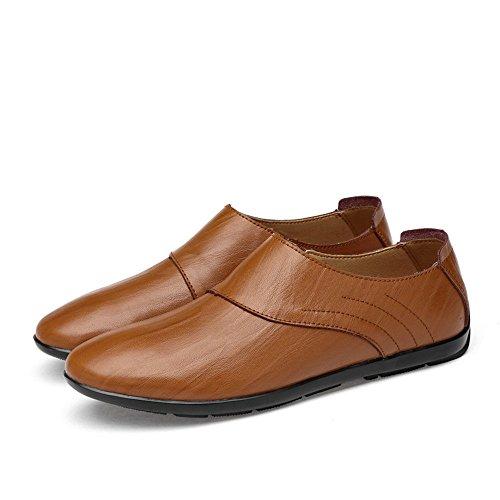 Dimensione da Scarpe Marrone uomo Uomo Shufang shoes Mocassini eleganti da casual EU da Da Mocassini in barca 42 Mocassini Color sintetica 2018 da Scarpe guida pelle Hollow Opzionale uomo xF84v