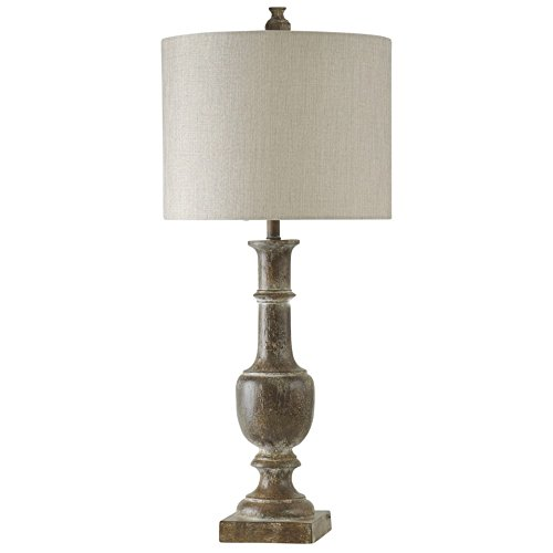Baluster Design Table Lamp in Chatham Finish with Drum Shade(Set of 2)