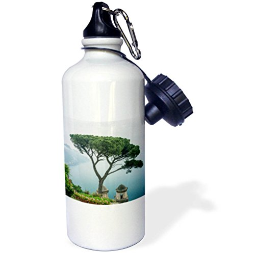 3dRose Danita Delimont - Italy - Italy, Amalfi Coast, Ravello, Coastline seen from a Villa - 21 oz Sports Water Bottle (wb_277642_1) by 3dRose