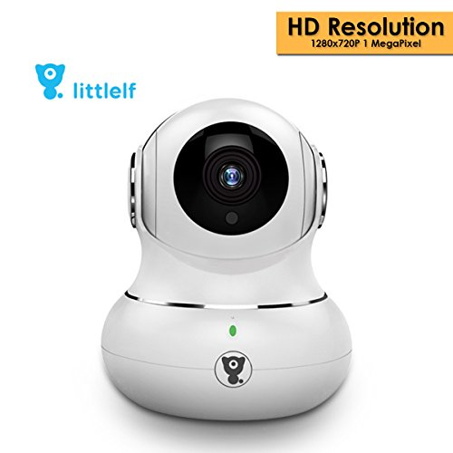 D3D Littlelf Wireless IP WiFi CCTV [Watch Online Demo Right Now] Indoor Security Camera (Support Upto 128 GB SD Card) (White Color) (720p, White) Model- LF-P1s by D3D