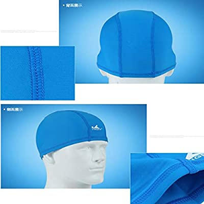 Boating & Watersports Zhongyue Bathing Cap,Bathing Caps for Women,Swimming Cap,Swimming Cap for Men,Bathing Cap for Men,Cap for Swimming,Cloth,Spandex Cap,Feel Comfortable,no Head,Black,Blue