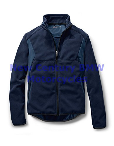Bmw Riding Jackets - BMW Genuine Motorcycle Motorrad Men Ride Fleece Riding Jacket Dark Blue L Large