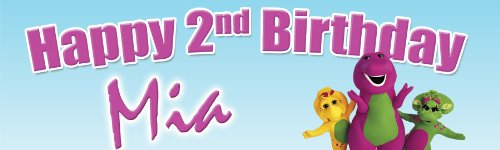 Barney Birthday Banner 18 in. x 60 in. - Customize