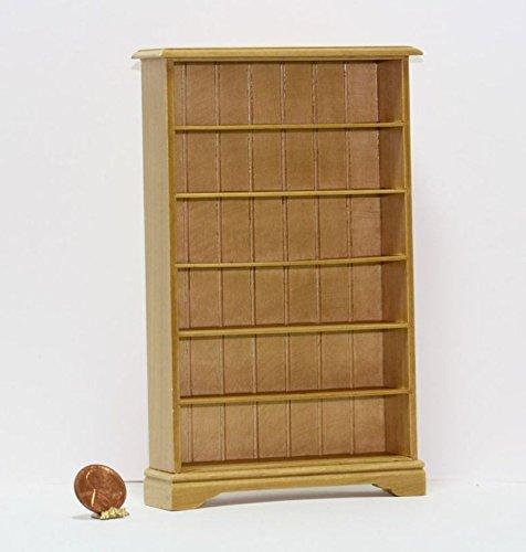Dollhouse Miniature 1:12 Scale Oak Bookshelf in Lacquer Finish