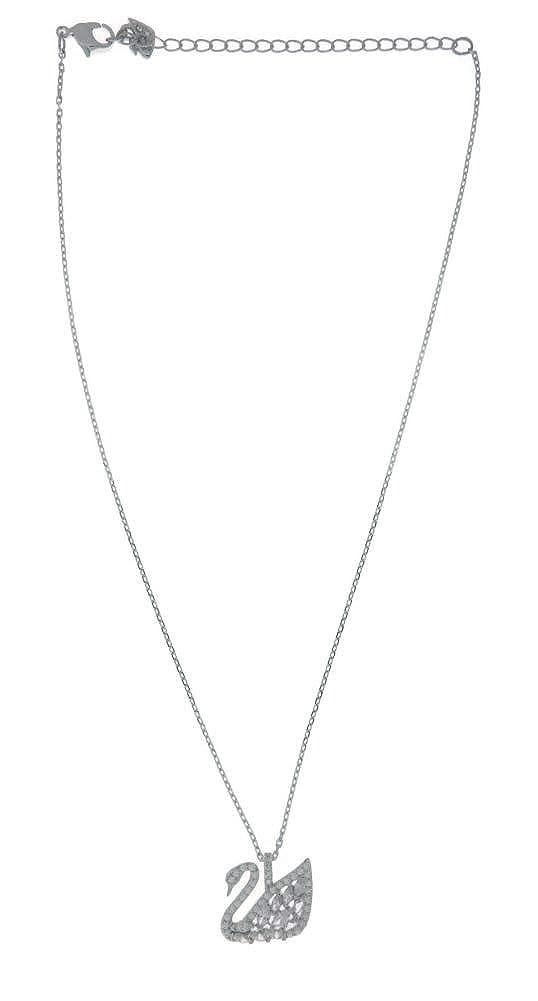 66576250984c Amazon.com  Swarovski Swan Lake Pendant - Small - White - 5296469  Jewelry
