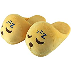 Type 2 Winter Funny Adult Emoji Cartoon Slippers Plush Slipper Expression Men Women Slippers Winter House Shoes zapatilla casa