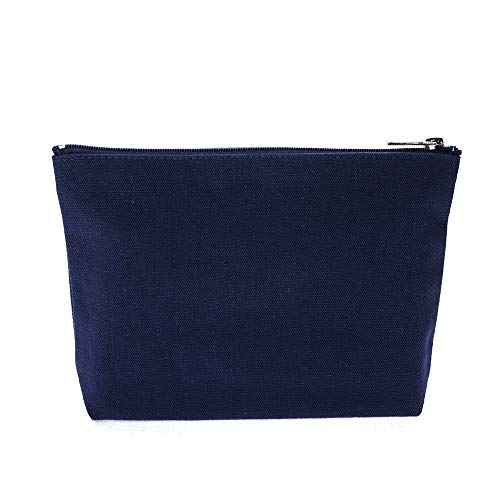 - Aspire 30-Pack Navy Canvas Zipper Bag 7 1/2