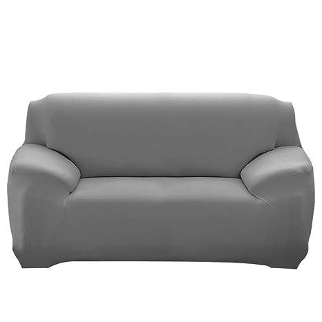 HIFUAR Fundas para Sofa Elástica 1,2,3,4 Plazas,Cubre Sofá Universal Cubierta de Sofá de Color Sólido Protector de Sofá o Sillón