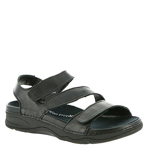 Drew Women's Angela Sandals D(W) Black Smooth Leather Women's Shoe 8.5 D(W) 17023-12 8.5 (Black Smooth Leather Shoe)