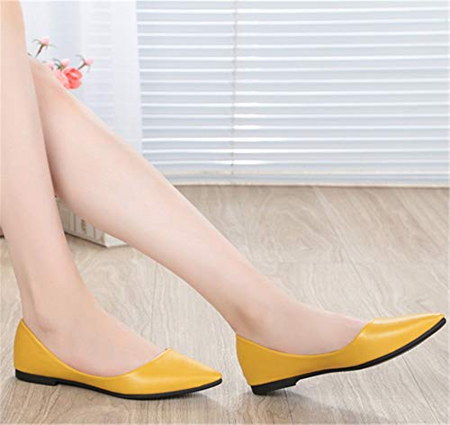 work shoes Black ladies Shallow FLYRCX flat bottom mouth casual single comfortable shoes soft shoes office wPvzSq6