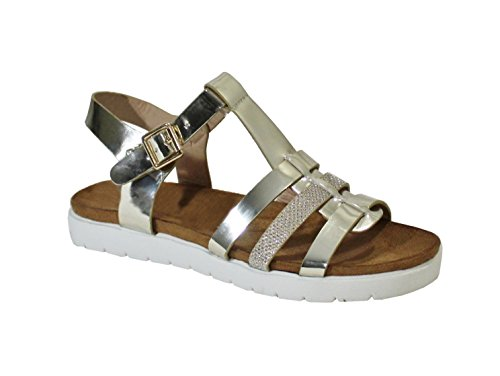 By Shoes -Sandalias para Mujer Gold